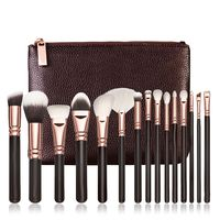 2016 New Style 15 PCS Pro Makeup Brushes Set Cosmetic Complete Eye Kit Case 1set Synthetic