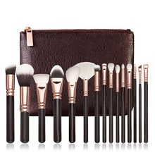 New style 15 PCS Pro Makeup Brushes Set Cosmetic Complete Eye Kit + Case 1set Synthetic Fiber Hair Makeup Brushes 2017 Anne