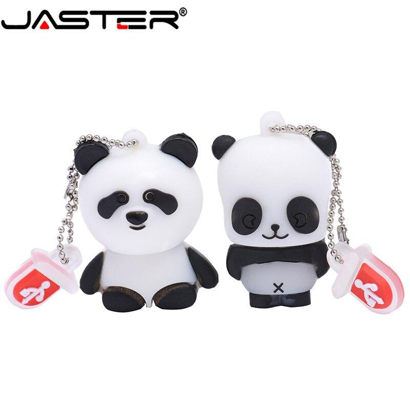JASTER  The New Cute Panda USB Flash Drive USB 2.0 Pen Drive Minions Memory Stick Pendrive 4GB 8GB 16GB 32GB 64GB Gift