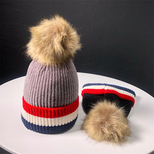 winter beanies wool knitting hat Female Ball Cap Pom Poms Winter Hat For Women Girl Hat Knitted Beanies Cap Hat for women real цена в Москве и Питере