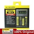 Оригинальное Nitecore NEWI4 Digicharger 18650 14500 16340 26650 LCD li-ion зарядное устройство 12V Входное зарядное устройство для аккумулятора AA AAA