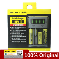 Original Nitecore NEWI4 Digicharger 18650 14500 16340 26650 LCD Li ion Charger 12V Input Charing for A AA AAA Battery Charger