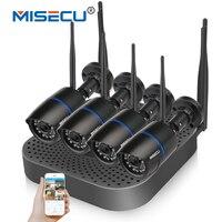 MISECU 4CH Wireless NVR CCTV Plug Play 2 4G Wifi 720P 1080P VGA HDMI Wireless P2P