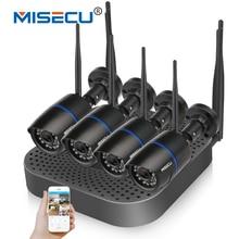 MISECU 4CH NVR CCTV plug & play Inalámbrico 2.4G wifi 720 P 1080 P VGA/HDMI P2P Inalámbrica WIFI IP IR Cámara de Visión Nocturna Casa seguridad