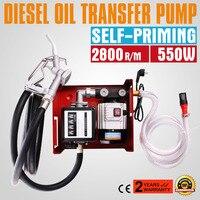 220V Electric Fuel Self Priming Transfer Pump Bio Oil Diesel Kerosene 60L/Min
