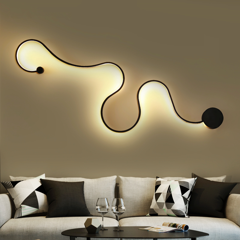 Post-Modern Novelty Wall lights LED Acrylic Wall sconces bedroom bedside lamp living room Fixtures corridor aisle Wall lamps modern minimalist 9w led acrylic circular wall lights white living room bedroom bedside aisle creative ceiling lamp