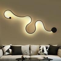 Post Modern Novelty Wall lights LED Acrylic Wall sconces bedroom bedside lamp living room Fixtures corridor aisle Wall lamps