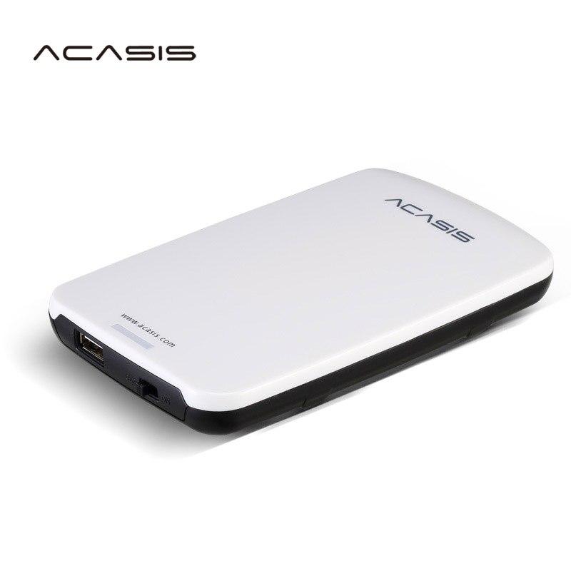 2.5 ''HDD ACASIS Originais Disco Rígido Externo 160 GB/250 GB/320 GB/500 GB Portátil armazenamento em disco USB2.0 Tem Interruptor De Alimentação Na Venda