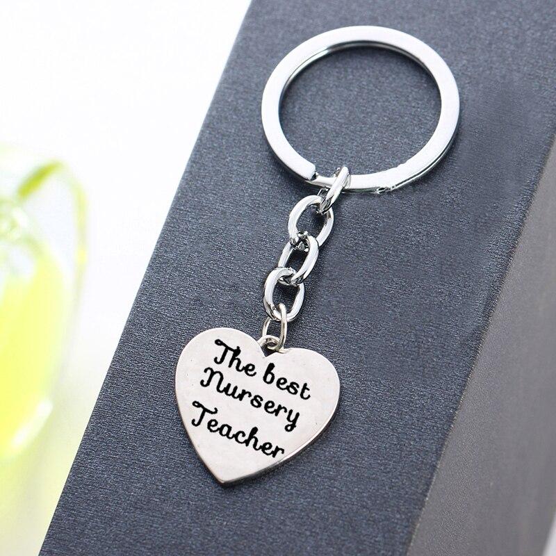 Ehrgeizig Tag Der Lehrer Geschenk Liebe Herz Charme Die Beste Kindergarten Lehrer Keychain Schlüssel Ring Frauen Männer Lehrer Schlüsselring Schmuck