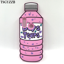 NEW Fashion 3D Boys Tears Mineral Water Bottle Case Soft Silicon Back Cover For