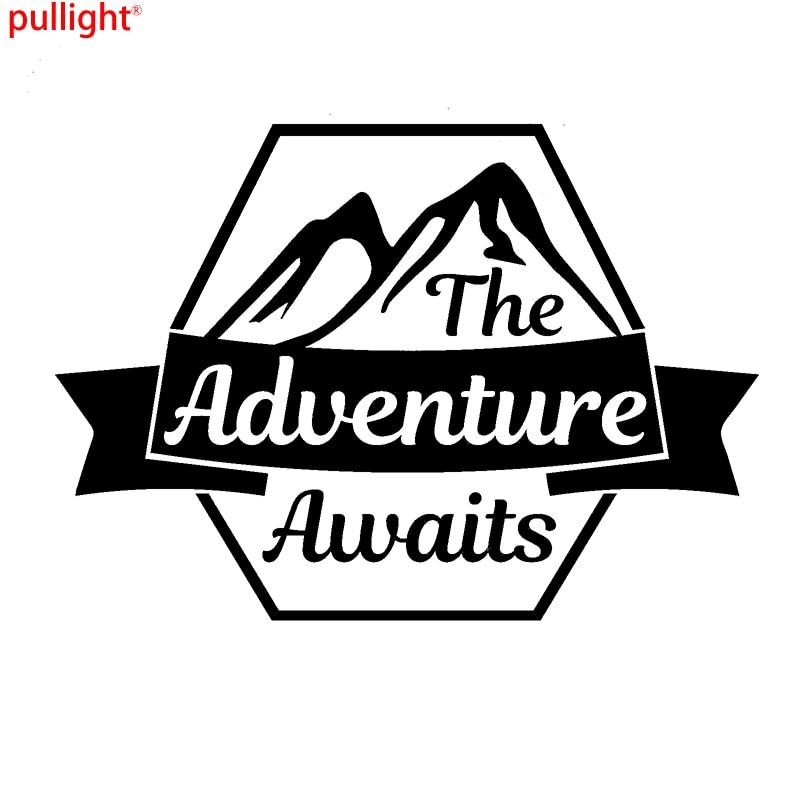 The Adventure Awaits Car Caravan Campervan Motorbike Laptop Vinyl Decal Sticker dodge caravan iv купить бу