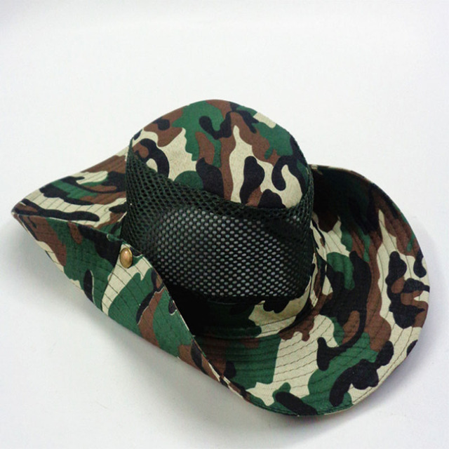 Fishing Hat Outdoor Camping Hunting Camo Hats Military Tactical Breathable  Caps Hiking Sun Jungle Cap Casquette De Peche Hommes 9b24c05950e5