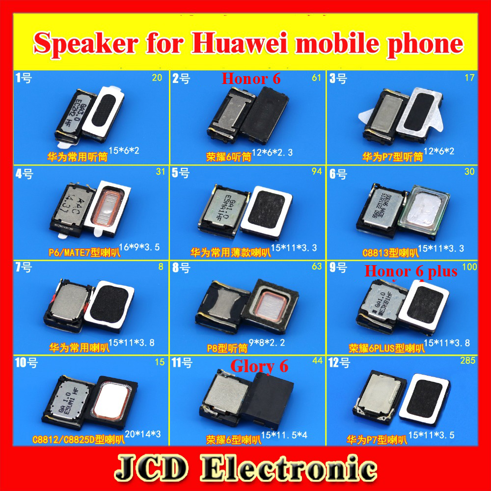 ChengHaoRan 1x Speaker Earpiece Handset For Huawei P9 P7 P6 MATE7 Honor 6 PLUS C8812 C8813 Mobile Phone Repair Parts Replacement