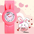 ZGO Cute Rabbit Children Watch Fashion Casual Kids Quartz Wristwatches 30m Waterproof Silicone Clock Boys And Girls Hours Christ