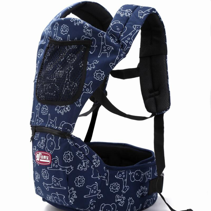 New 6 in 1 For 0-36m Infant Toddler Ergonomic Baby Carrier Sling Backpack Bag Gear With Hip Seat Wrap Newborn Waist Stool Belt 2016 hot portable baby carrier re hold infant backpack kangaroo toddler sling mochila portabebe baby suspenders for newborn