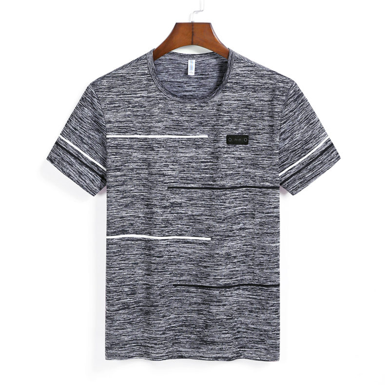 9XL Summer T shirts Men Clothing Polyester Plus Size 5XL 6XL 7XL 8XL Male Tshirts Breathable Short Sleeve Strip Top Tees O-Neck 05