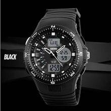Водонепроницаемый военная наручные led подсветка аналоговый цифровой спортивные часы человек Двойной Время Тревоги ElectronicWatches Кварцевые