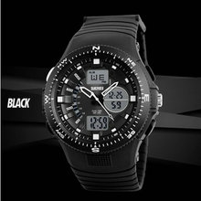 waterproof military wrist led backlight analog digital sports man watch Double Time Alarm ElectronicWatches Quartz