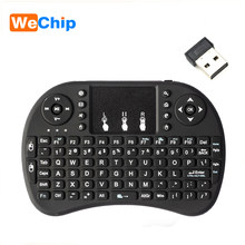 Wechip i8 versión en inglés ruso 2,4 GHz teclado inalámbrico Air Mouse con Touchpad manual, funciona con Android TV BOX Mini PC 18(China)