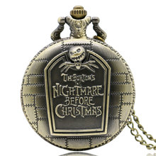 New Arrival Nightmare Before Christmas Pocket Watch Relogio de Bolso Xmas Gifts