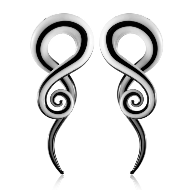HS Pair Glass Ear Spiral...
