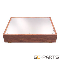 380*280*70mm Solid Wood Aluminum Amplifier Chassis Enclosure Case Box for Hifi Audio DIY Vintage Tube Amplifier DAC