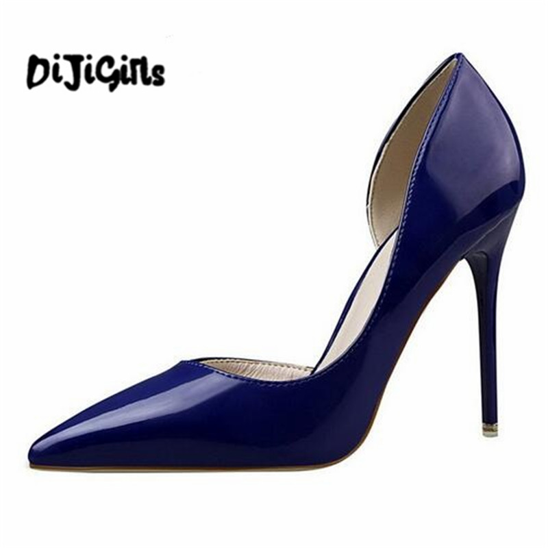 New 2018 Women pumps Fashion pointed toe patent leather stiletto high heels Spring autumn wedding shoes woman Zapatos Mujer siketu 2017 free shipping spring and autumn high heels shoes fashion women shoes wedding shoes thick sandalsl pumps g042