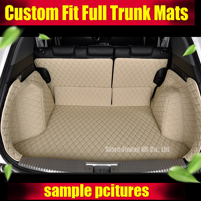 Good mats! Special car trunk mats for Ssangyong Rexton W 2014 durable waterproof luggage carpets for Rexton w 2015,Free shipping car rear trunk security shield cargo cover for ssangyong rexton ii w 2008 2017 high qualit black beige auto accessories