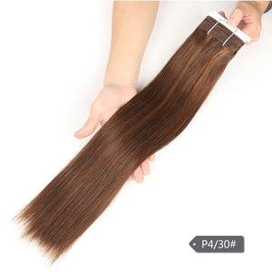 Image 5 - Sleek Pre Farbige P4/27 P4/30 P1B/30 P6/2 Menschliches Haar Bundles Brasilianische gerade Haar 1 Bundle Remy Haar Verlängerung 113g