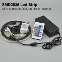5M Waterproof RGB Led Strip Light 3528 2835 DC12V Flexible Lighting String Ribbon Tape Lamp Home