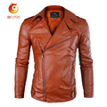 PU Leather Jacket Casual Men New Fashion Zipper Slim Faux Leather Motorcycle Jackets Men Coat Jaqueta Trench Parka  Slim