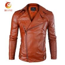 PU Leather Jacket Casual Men New Fashion Zipper Slim Faux Leather Motorcycle Jackets Men Coat Jaqueta Trench Parka  Slim