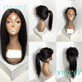 lace front synthetic wigs Full Lace Wig with baby hair Natural Black 1b Color Synthetic Glueless Front Lace Wigs for Black Woman