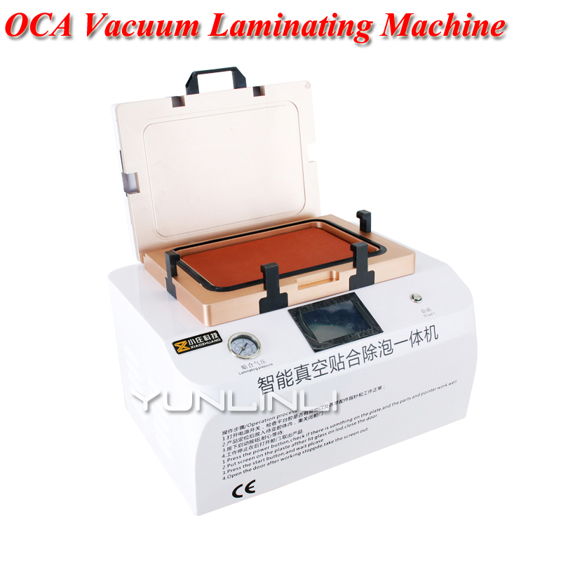 OCA Vacuum Laminating Machine Automatic Bubble Removing Machine With Automatic Lock Cover For LCD Touch Screen Repair YT 04