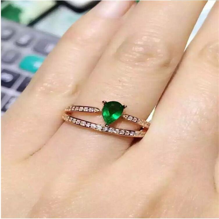 Emerald ring Free shipping Natural real emerald 925 sterling silver 4*6mm Fine jewelry emerald ring free shipping natural real emerald 925 sterling silver 4 6mm fine jewelry