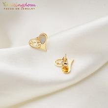 Yunkingdom lovely heart butterfly nigerian jewelry sets pendant necklace earrings for women stainless steel set UE0274