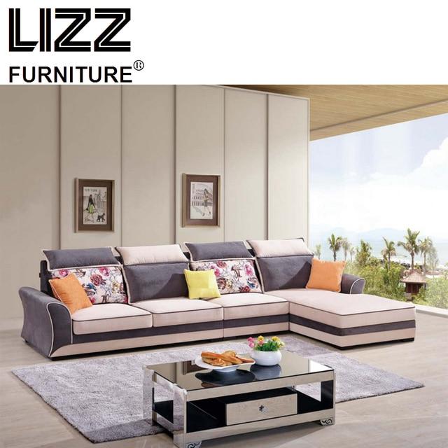Corner Sofas Loveseat Chair Fabric China Living Room Furniture Set Modern Scandinavian Fabrics Sofa