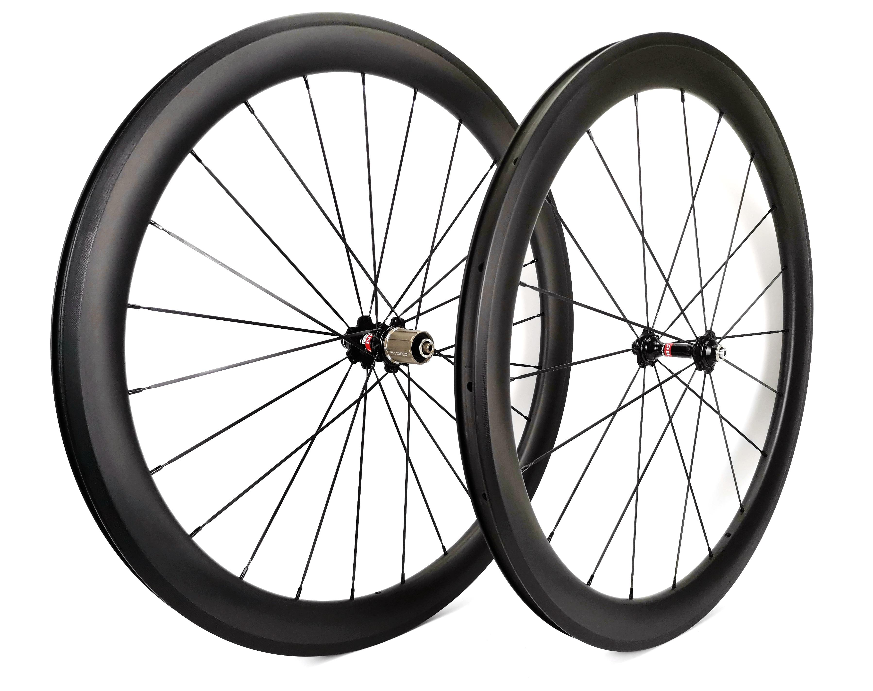 700C 50mm depth Road bike carbon wheels 25mm width bicycle clincher Tubular carbon wheelset U shape