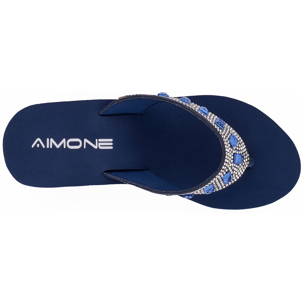 d34d1134474 AIMONE Summer Woman Shoes Platform bath slippers Wedge Beach Flip Flops  High Heel Slippers For Women Brand Navy Ladies Shoes -in Flip Flops from  Shoes on ...