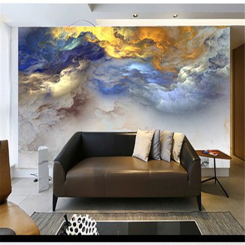 Beibehang 3D Cloud Creative Living Room Study Italy Zen Italian Decorative Wall Wallpaper Custom In Wallpapers From Home Improvement On