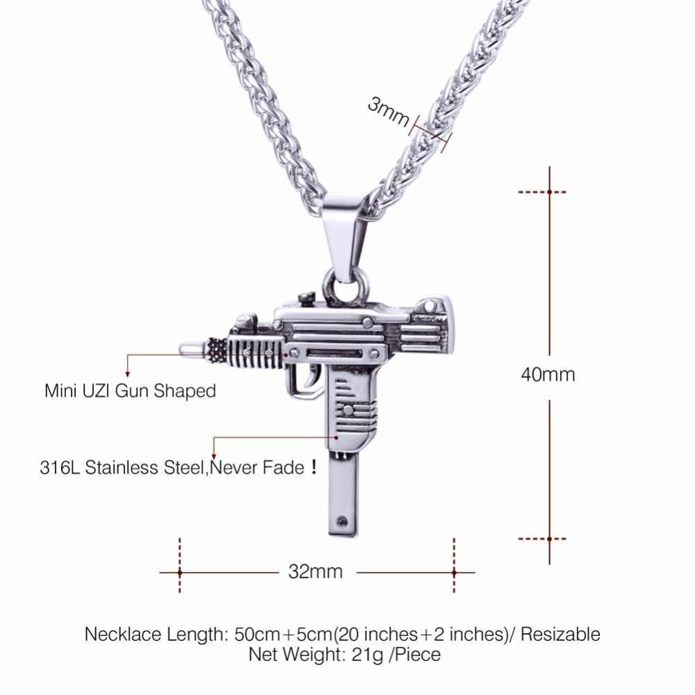 Звездный лорд пистолет УЗИ ожерелье и кулон подарок для мужчин хип-хоп ювелирные изделия из нержавеющей стали военная подмашина кулон пистолет для мужчин GP2953