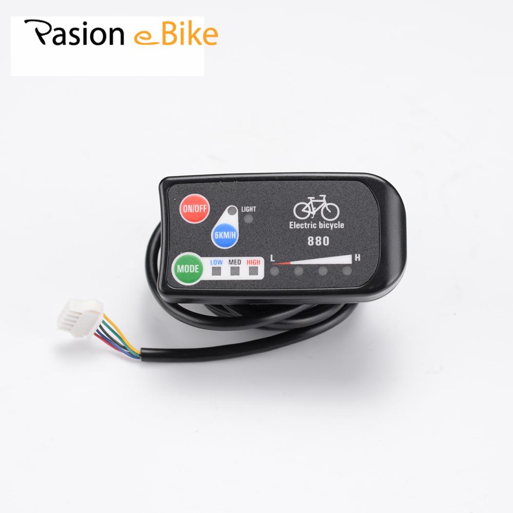Prix pour PASION E VÉLO 36 V 48 V Ebike Intelligent LED 880 Panneau de Commande Électrique Vélo Pièces de vélo