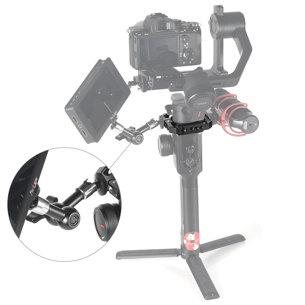 Image 5 - SmallRig Mounting Clamp for MOZA Air 2 Dual Camera Rig Can Attach with Nato Handle EVF Mount Or Microphone DUY Options BSS2328-in Tripod Monopods from Consumer Electronics