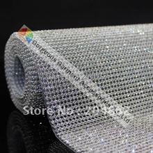 Высококачественное железо на горячей фиксации сетка с хрустальными стразами отделка с 3 мм камнями в серебряной основе для DIY свадебные аксессуары