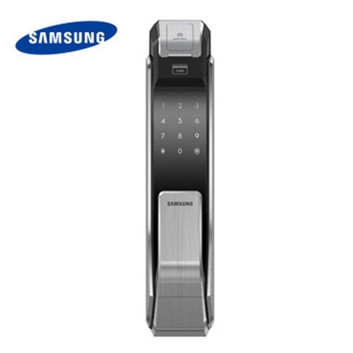 bilder für Samsung shs-p718 fingerabdruck digitale türschlösser push pull keyless fingerprint tag wie p910