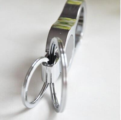 Mbërritje të reja Clips çeliku inox në rripin e Zi Car Keychain - Bizhuteri të modës - Foto 5