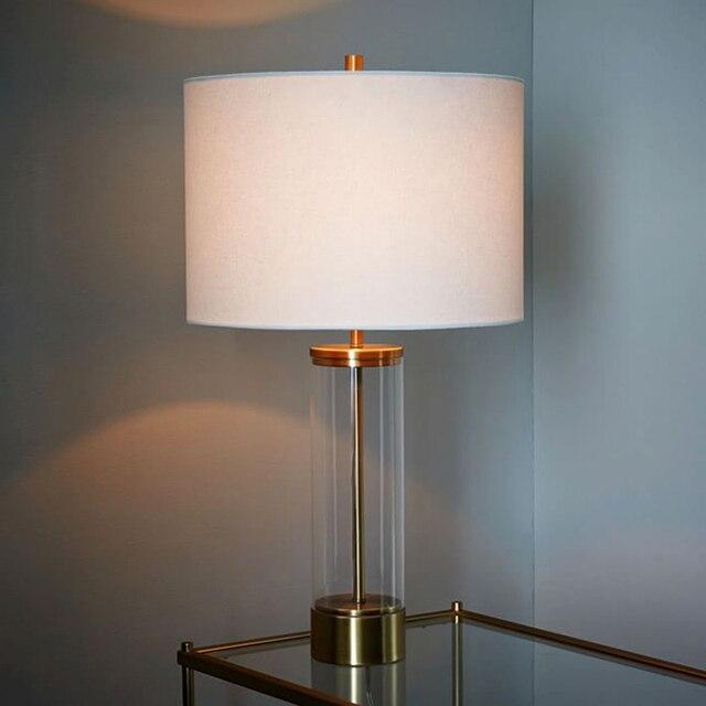 LED Luxus Dekoration Kreative Moderne Edelstahl Glas Nachttischlampe Schlafzimmer  Lampe Stilvollen Wohnzimmer Lampe