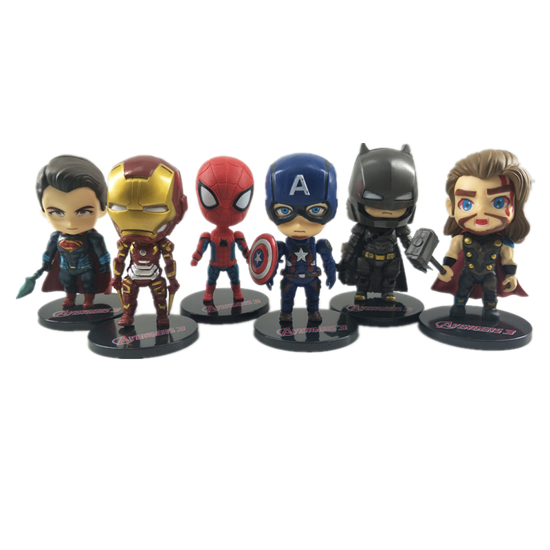 Marvel Avengers Iron Man Spider Man Captain America Characters Action Figure Battle Edition PVC Collection Model Toys in Action Toy Figures from Toys Hobbies