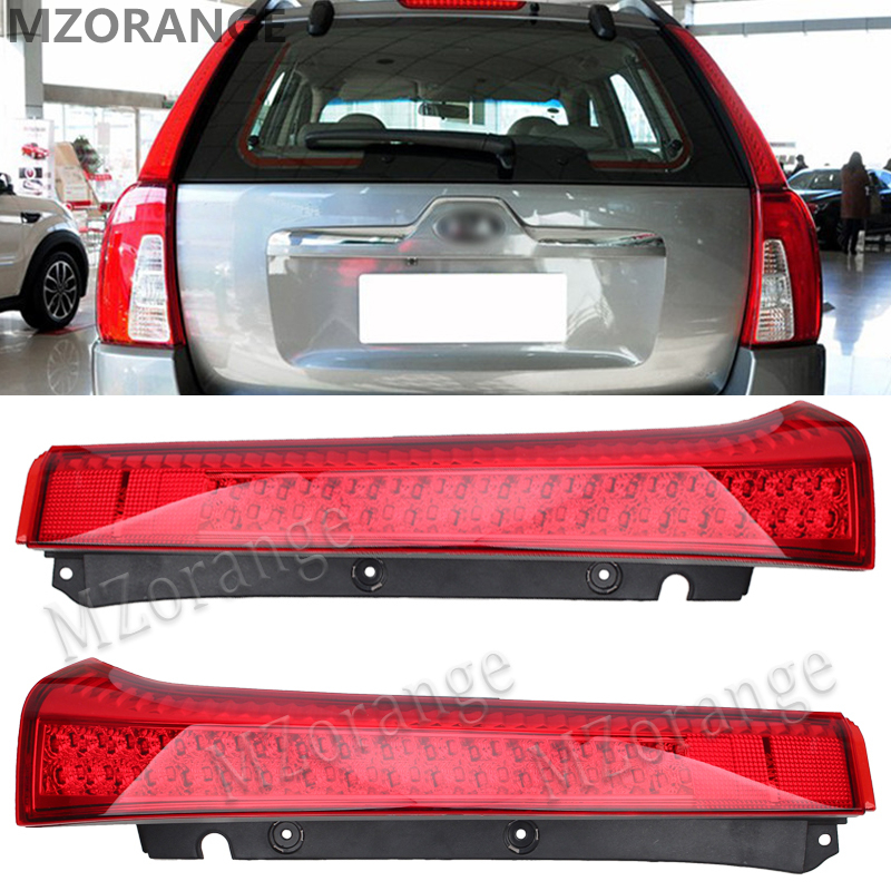 цены MZORANGE Car LED Rear Bumper Reflector Red Len Car Stop Brake Light Tail Fog Parking Lamp LED Tail for KIA Sportage 2008-2012
