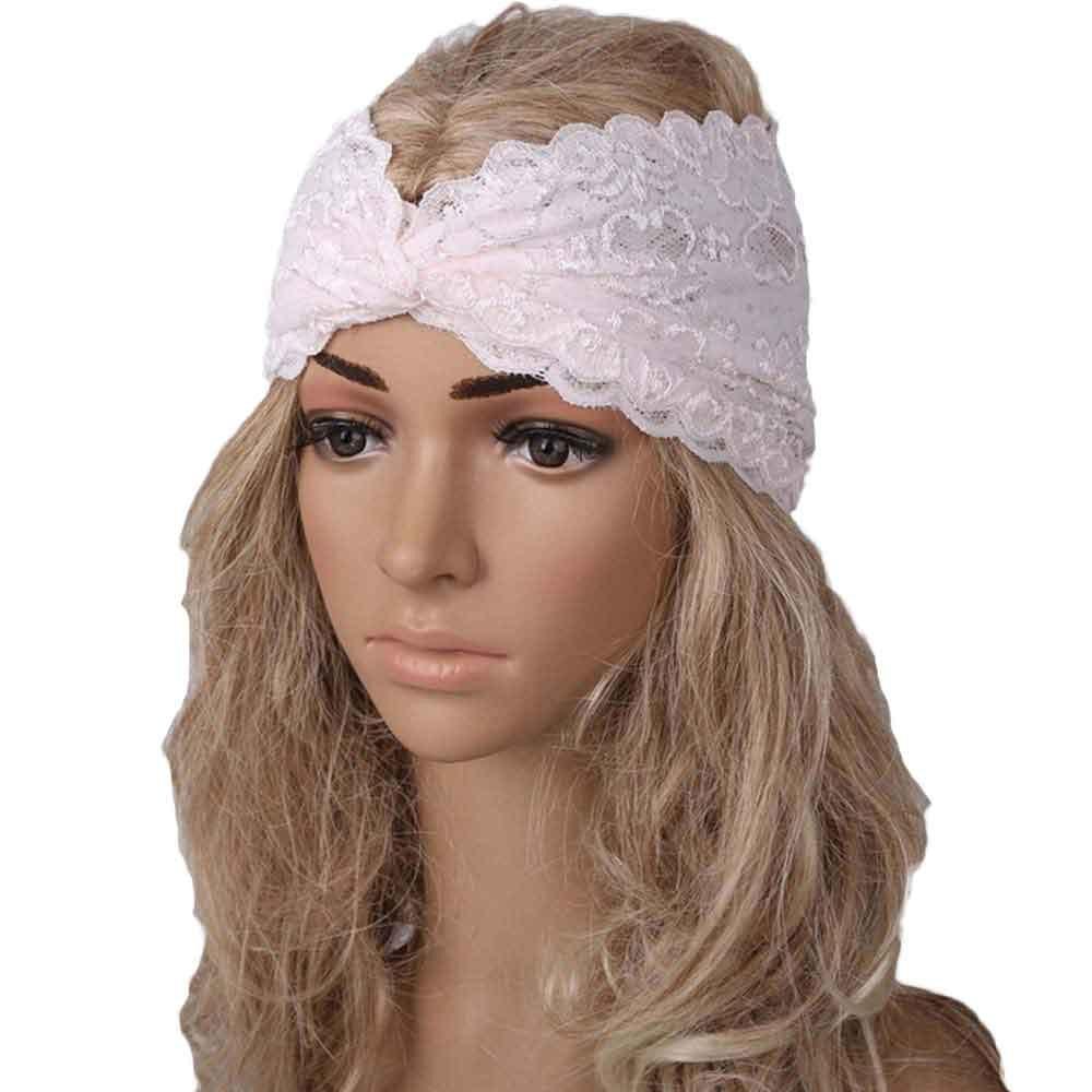 Best Turban Wrap Women Yoga Hairband Headband Sport Headband Lace Twist